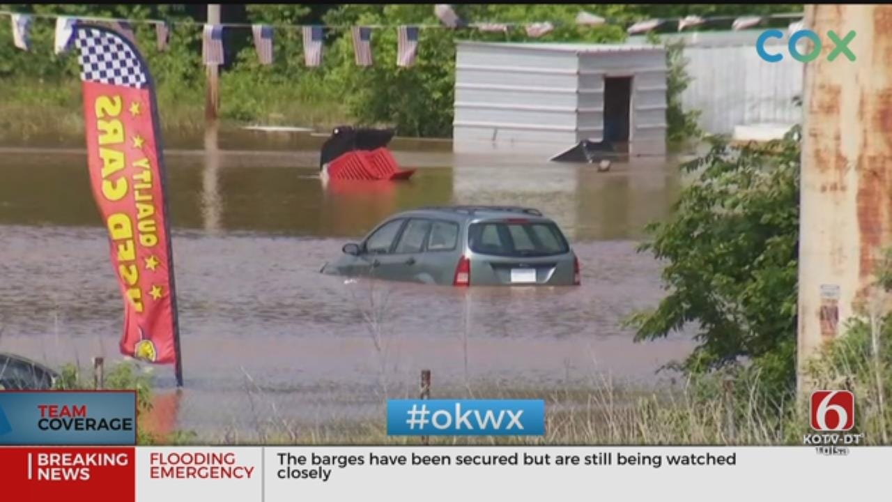 Black Hawk Helicopters On Standby To Rescue Oklahoma Flood Victims