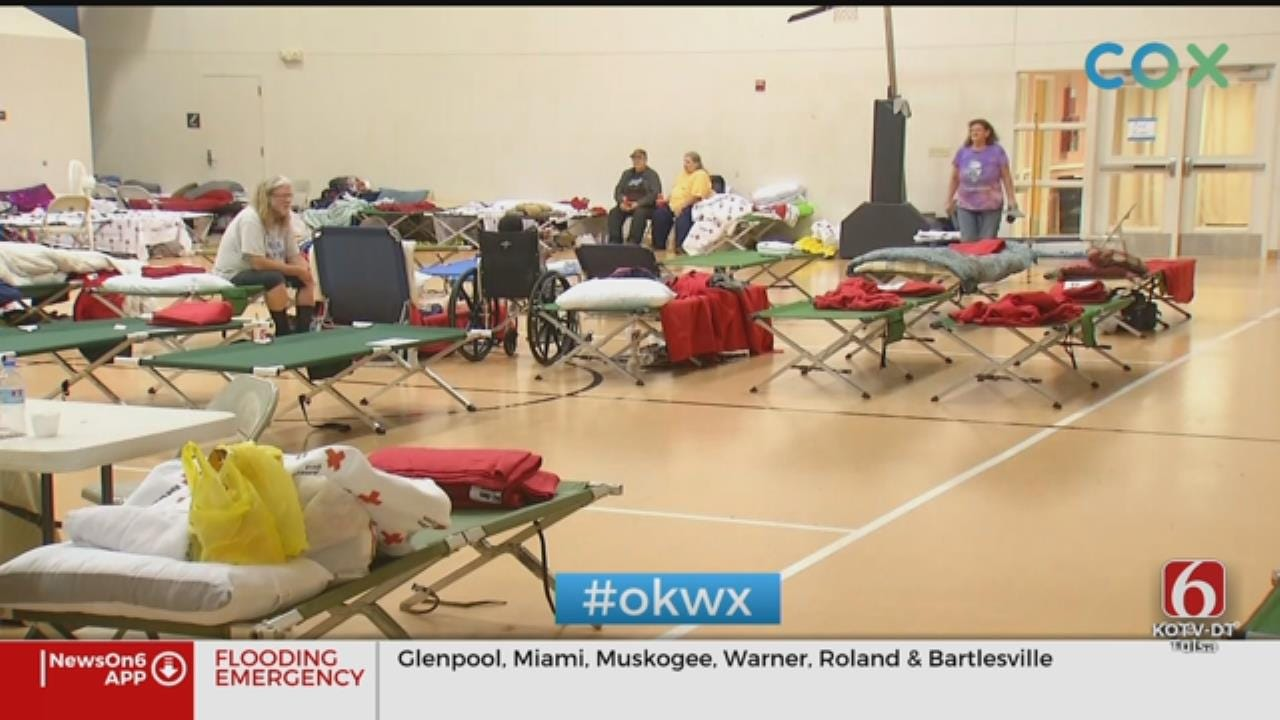 Flooding Evacuees Taking Shelter In Church East Of Downtown