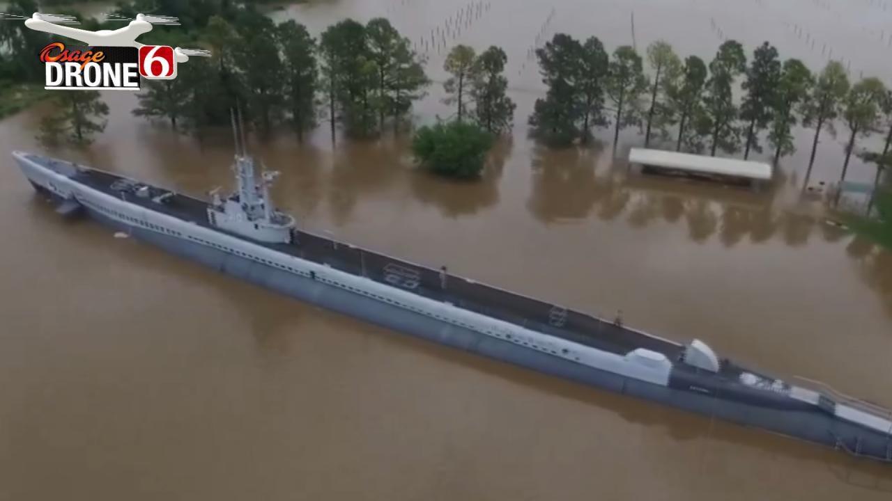 WATCH: USS Batfish Submarine Floats Again In Historic Flooding