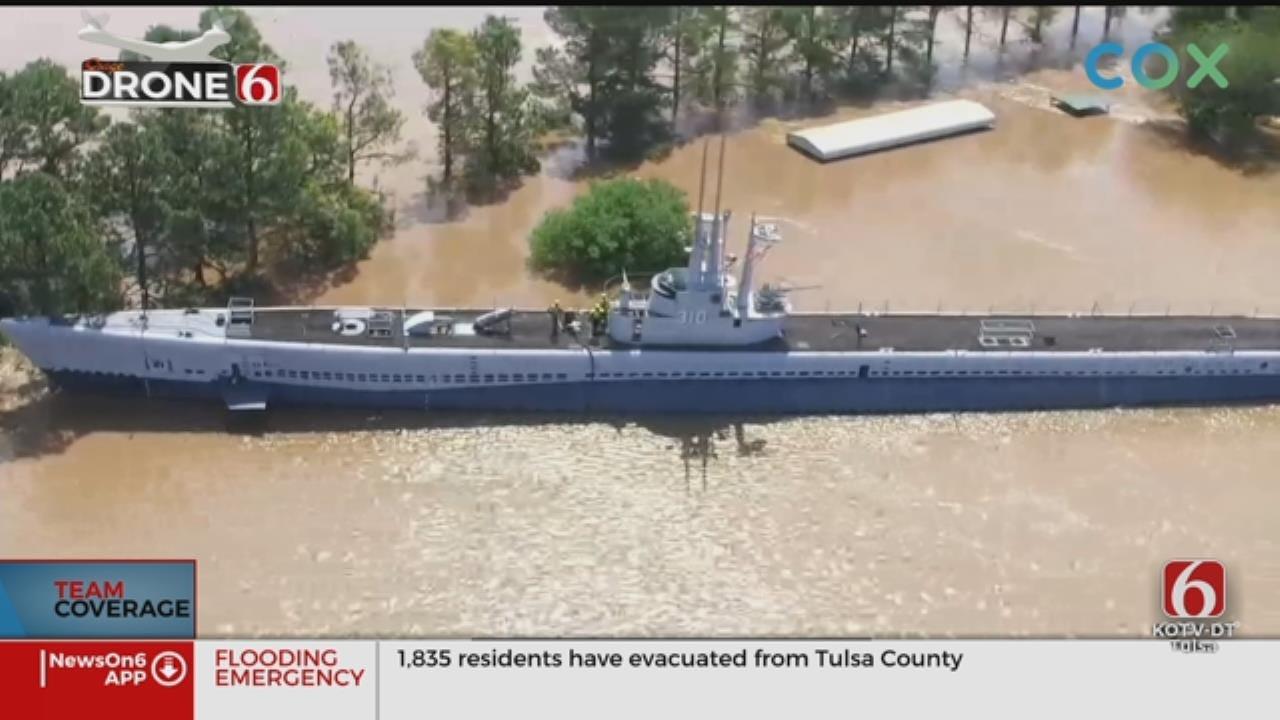 Concerns Afloat For USS Batfish In Muskogee Floods