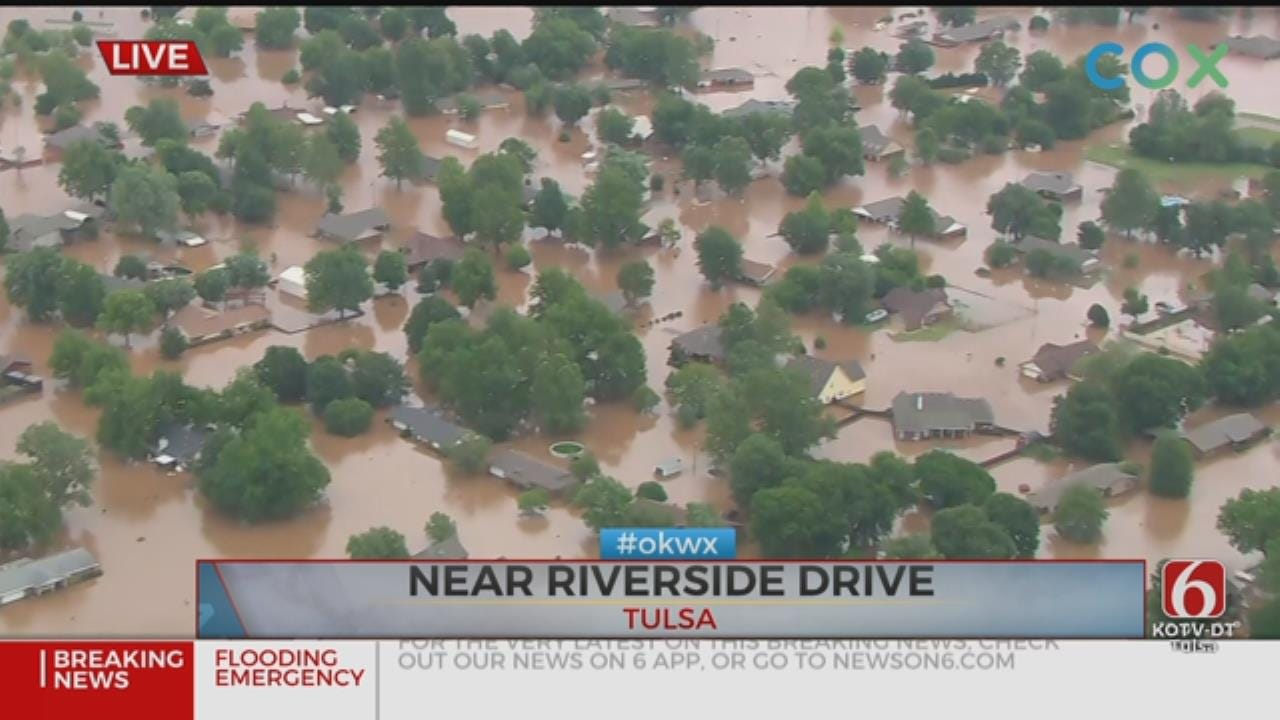 Stay Out Of Arkansas River Flood Waters, City Of Tulsa Says