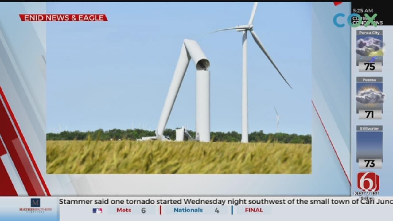 Turbine Tower Buckles, Collapses On Oklahoma Wind Farm
