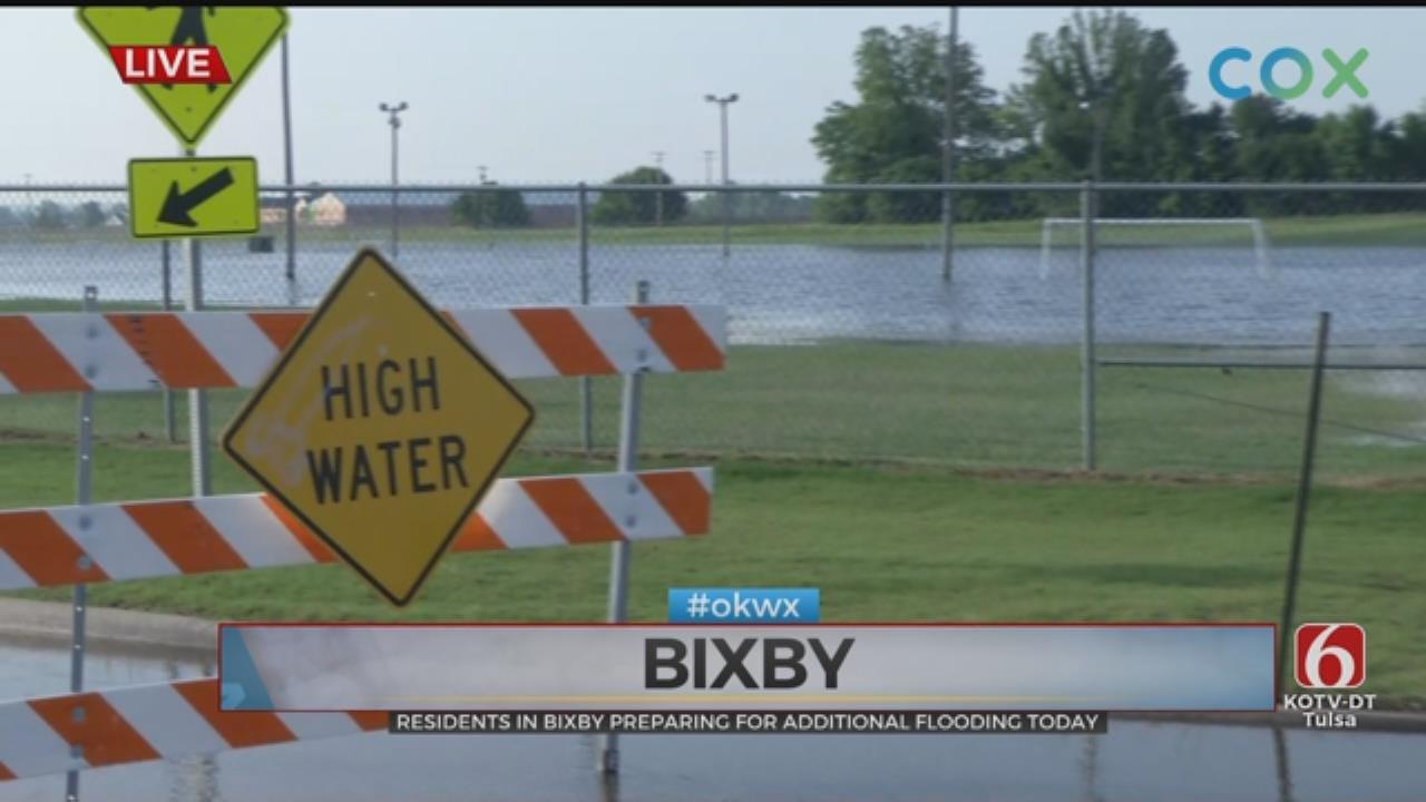 Bixby Neighborhoods, Businesses Impacted By Flooding