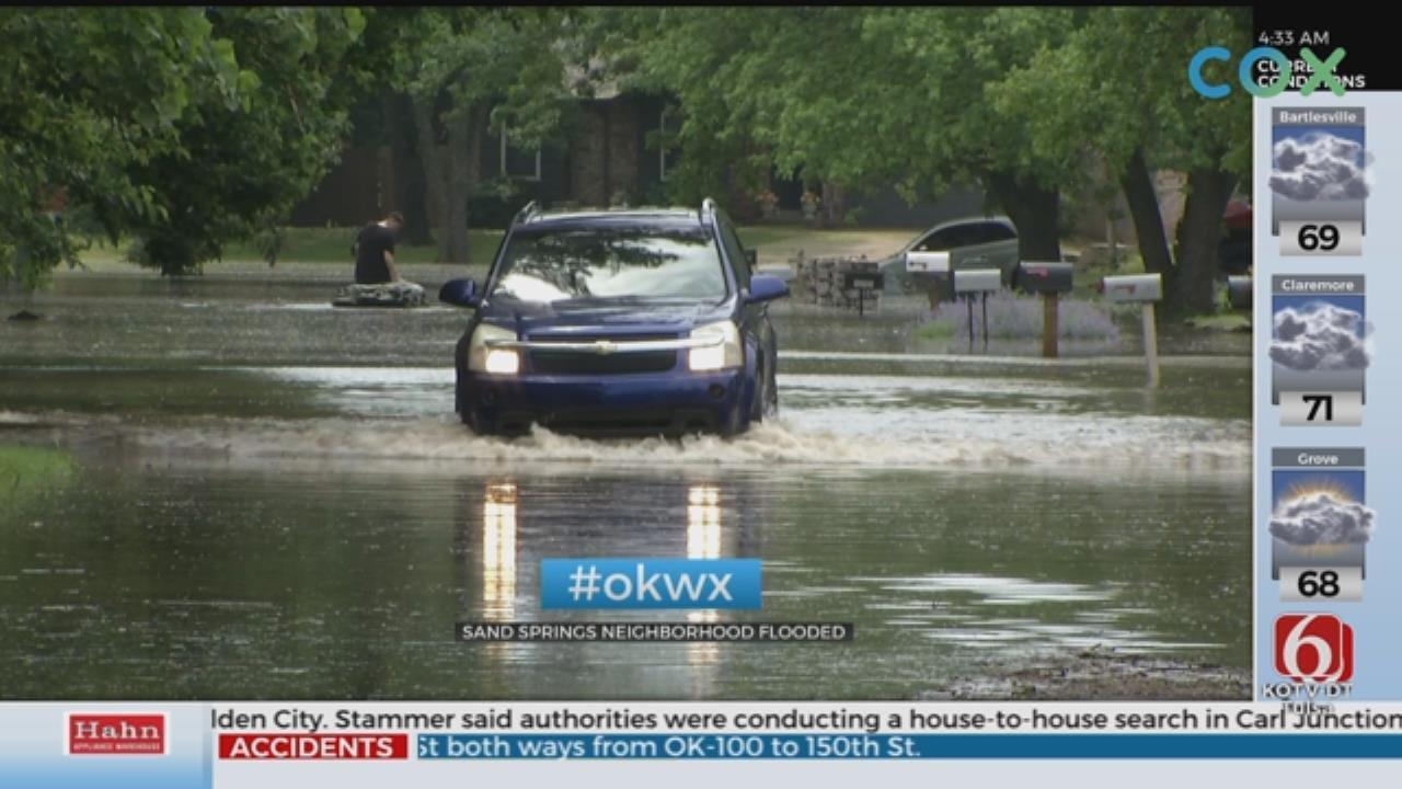 Flooding Impacts Highway 51, Neighborhood In Sand Springs