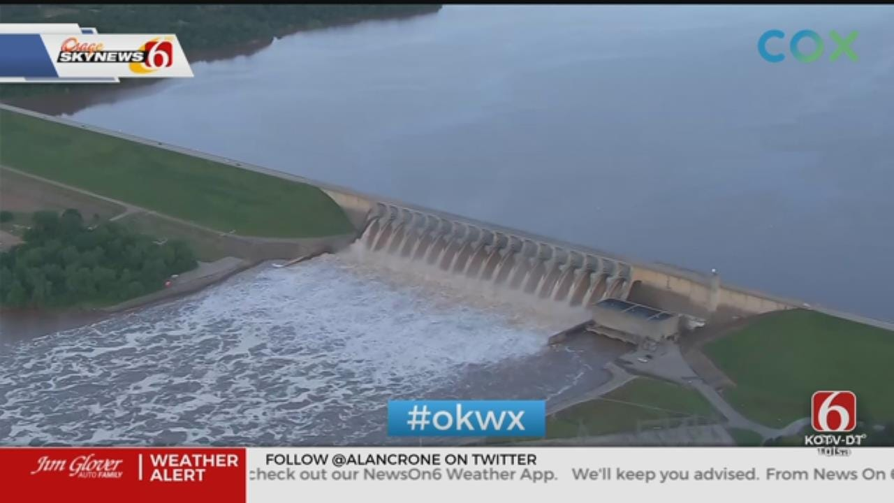 Keystone Dam Continues Releasing Water