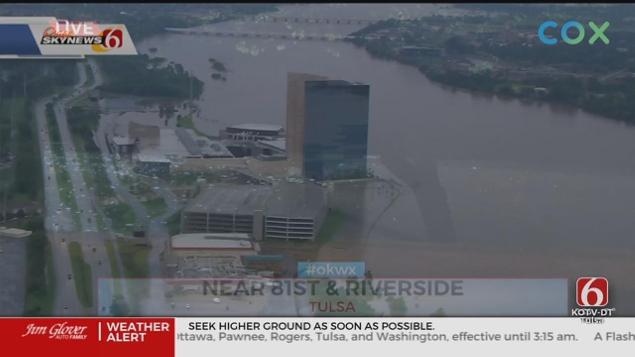 Flood Waters Threaten River Spirit Casino In Tulsa