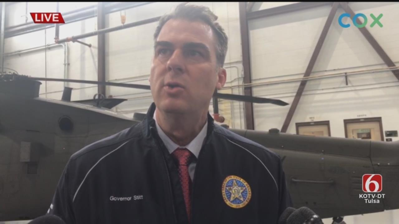 WATCH: Governor Kevin Stitt Discusses Oklahoma Flooding