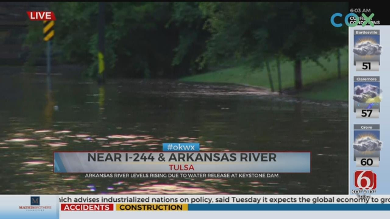 Water Released From Keystone Dam, Tulsa Trail Experiences Flooding