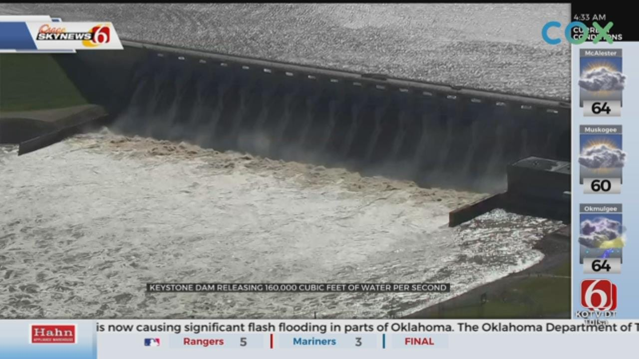 Keystone Dam Releases More Water