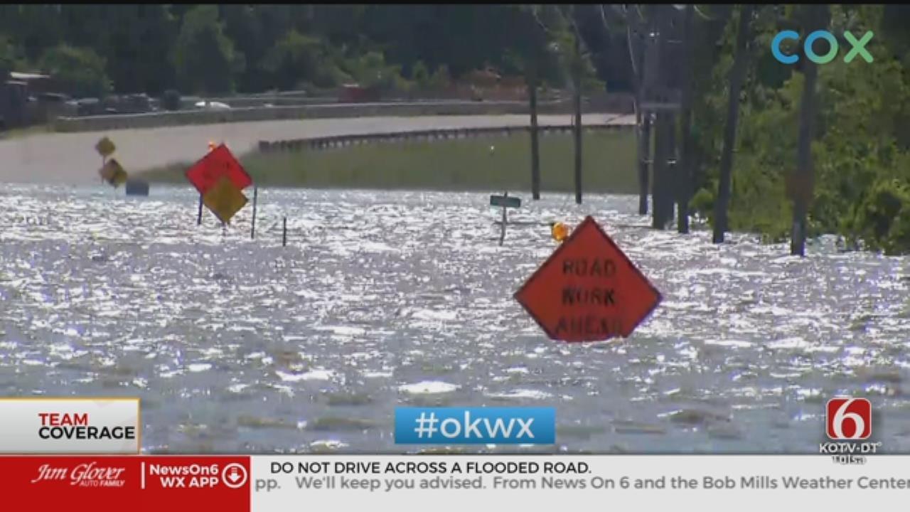 Emergency Crews Navigating High Flood Waters In Skiatook