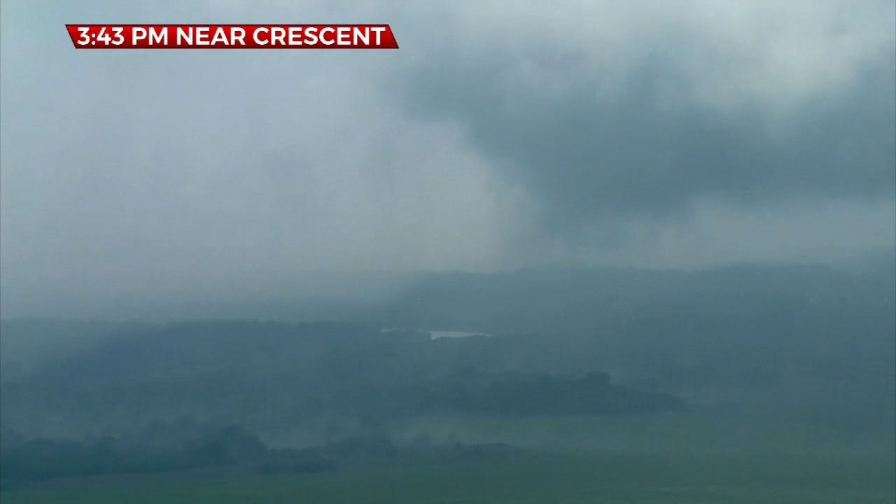 WATCH: Tornado Spins On The Ground Near Crescent In Logan County