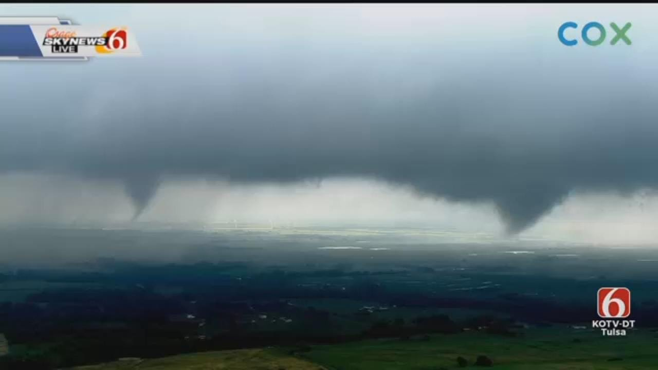 WATCH: Travis Meyer Points Out Two Tornadoes West Of Crescent