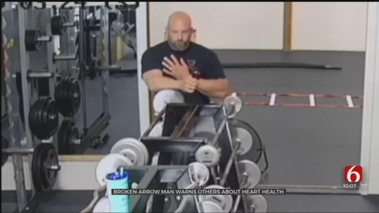CAUGHT ON CAMERA: Broken Arrow Man Warns Of Heart Health After He Has Heart Attack During Workout