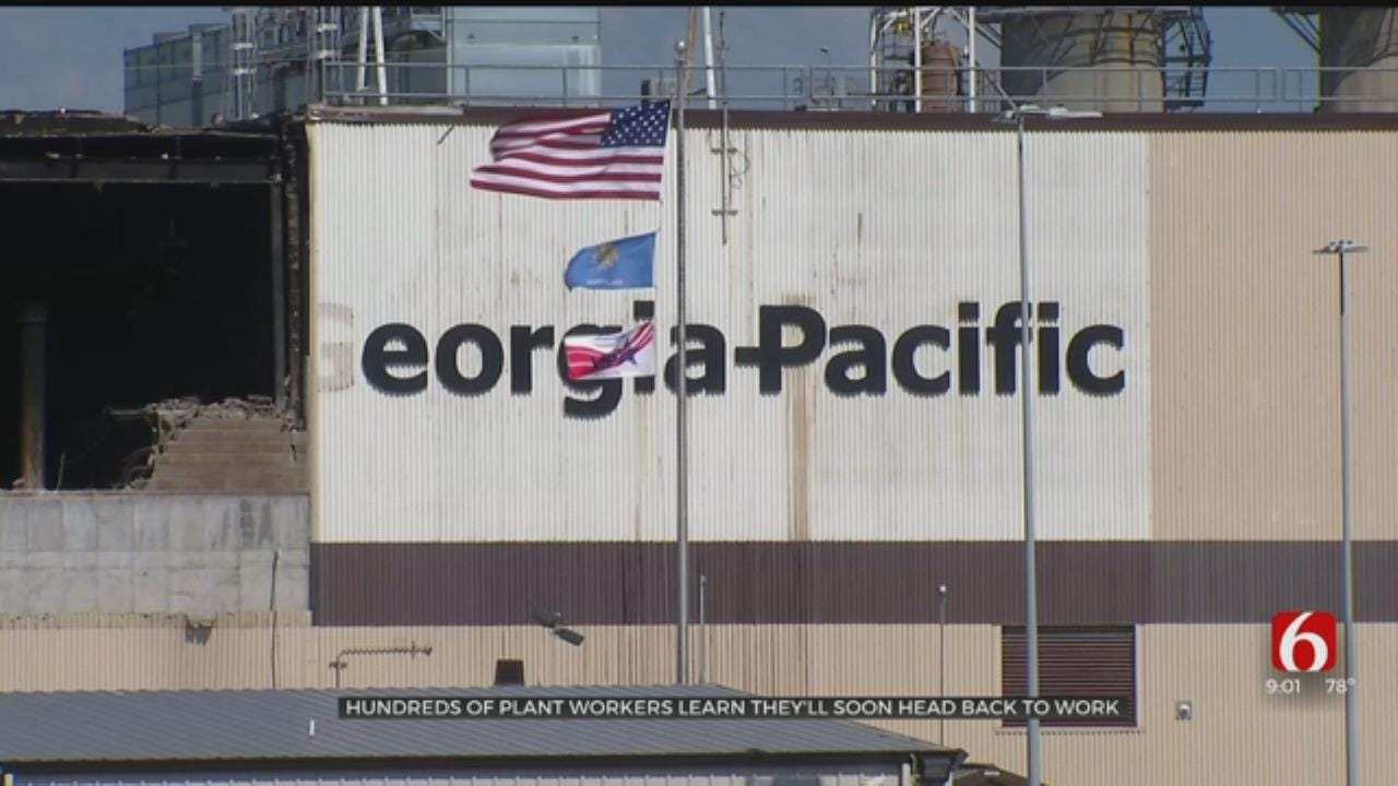 All Muskogee Georgia-Pacific Workers Can Return To Work After Fire