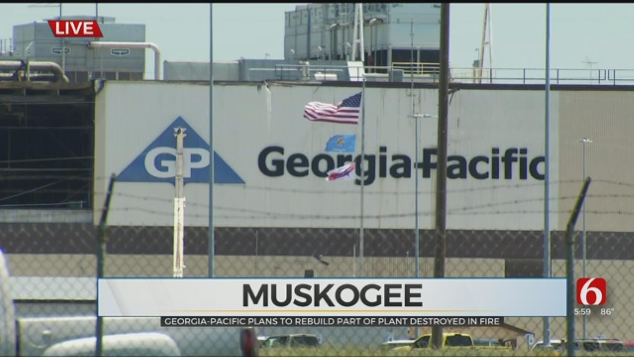 Georgia-Pacific Says They Will Rebuild After Muskogee Plant Fire