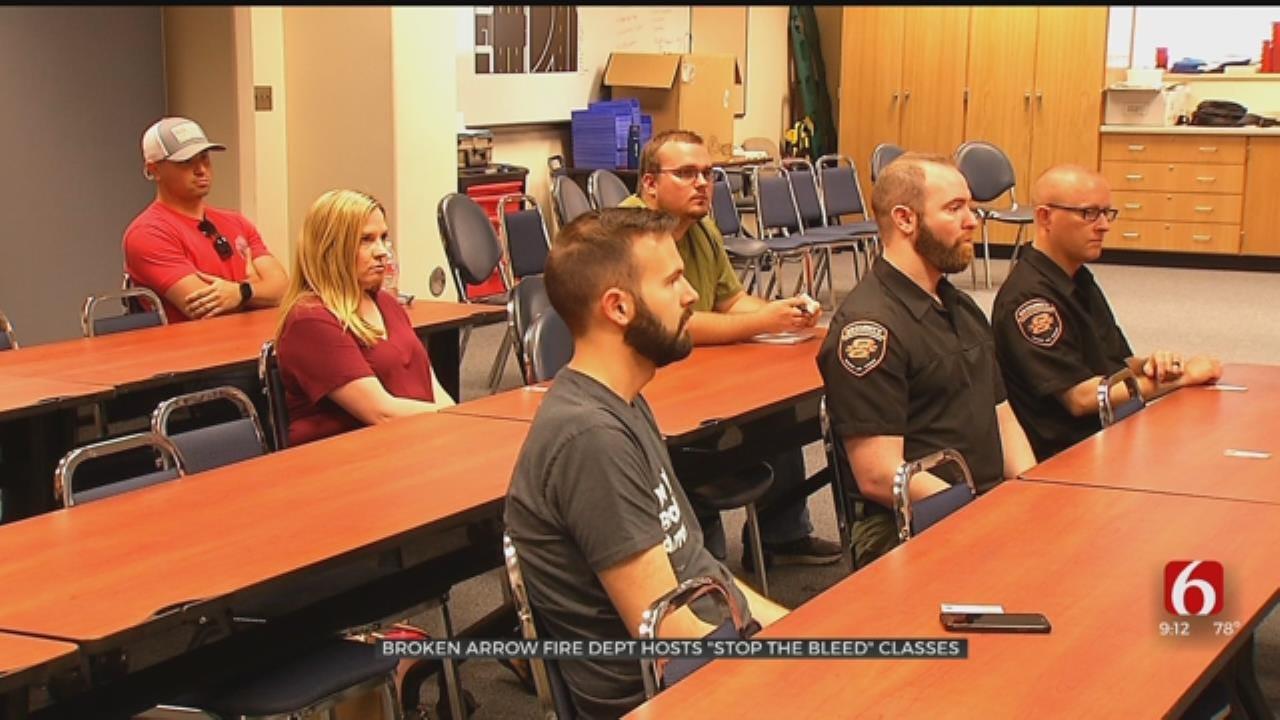 Broken Arrow Fire Hosts 'Stop The Bleed' Course