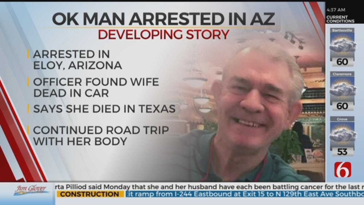 Sand Springs Man Found With Wife's Dead Body In Arizona