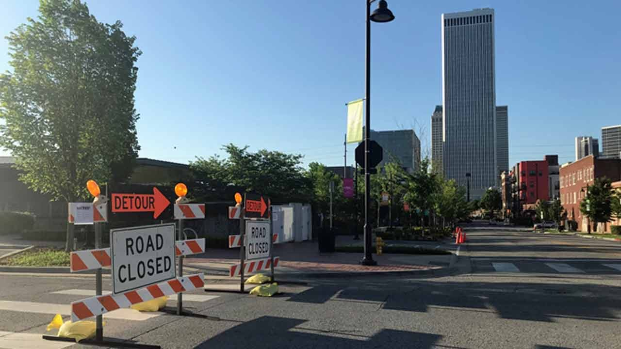 Mayfest Road Closures Underway In Downtown Tulsa