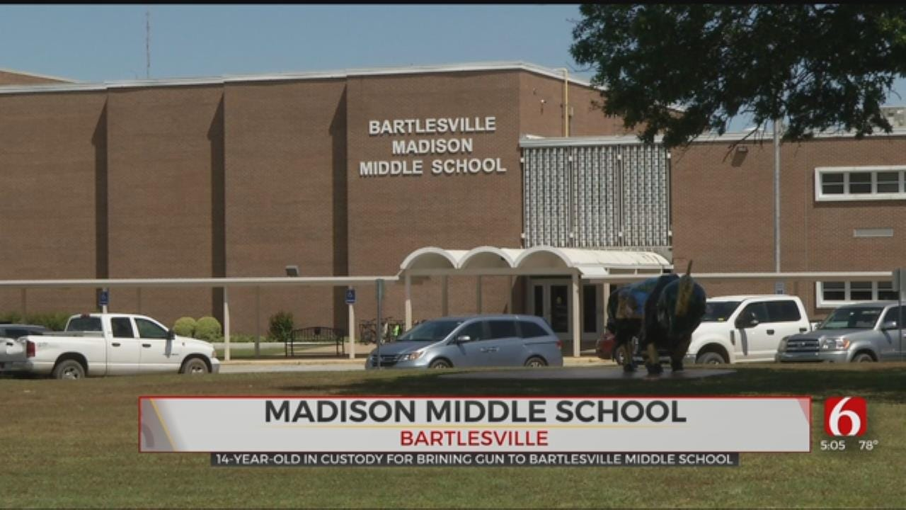 Police: Student Brings Gun To Bartlesville Middle School