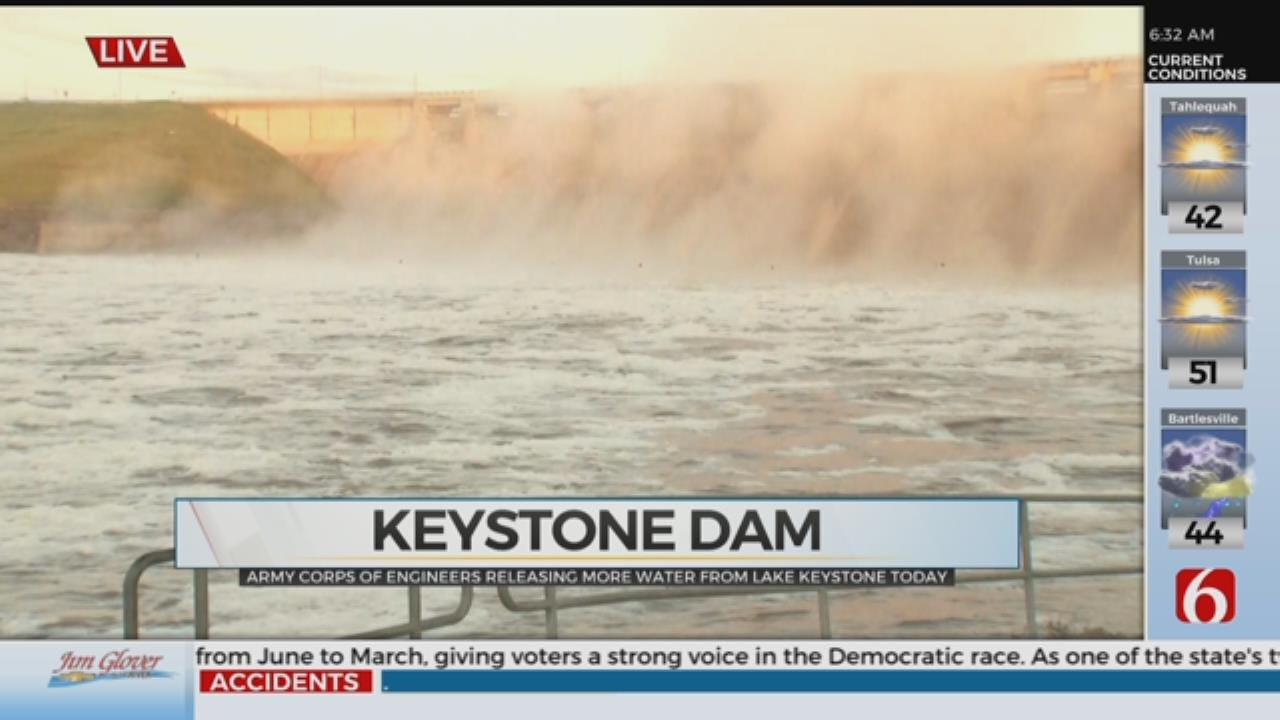 Army Corps Of Engineers Release Record Amount Of Water From Keystone Dam