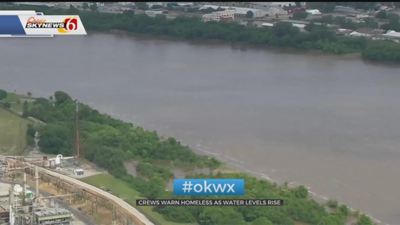Tulsa County Sheriff's Office Warning The Homeless As Water Levels Rise