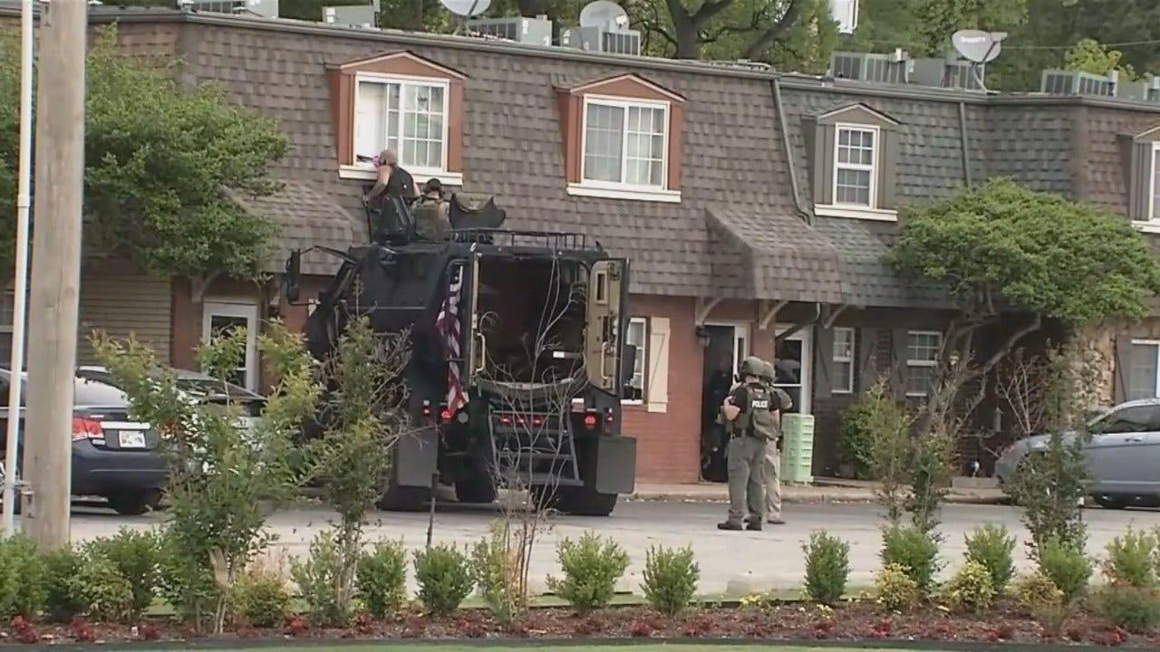 WATCH: Suspect Surrenders In Tulsa Standoff