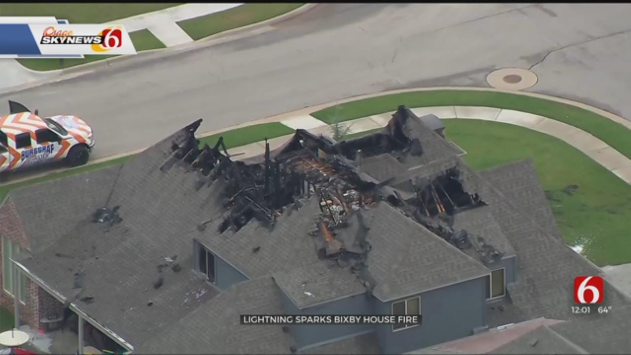 Bixby Family Safe After House Fire