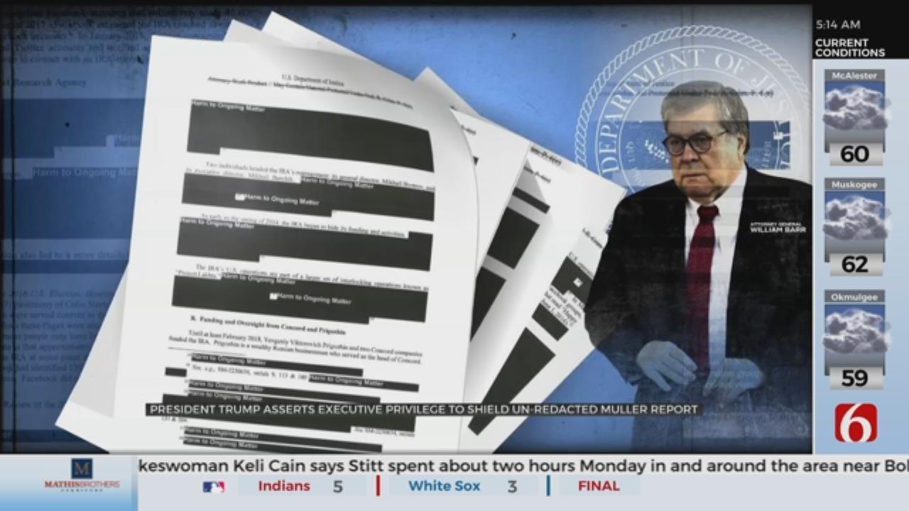 President Trump Invokes Executive Privilege Over Unredacted Mueller Report