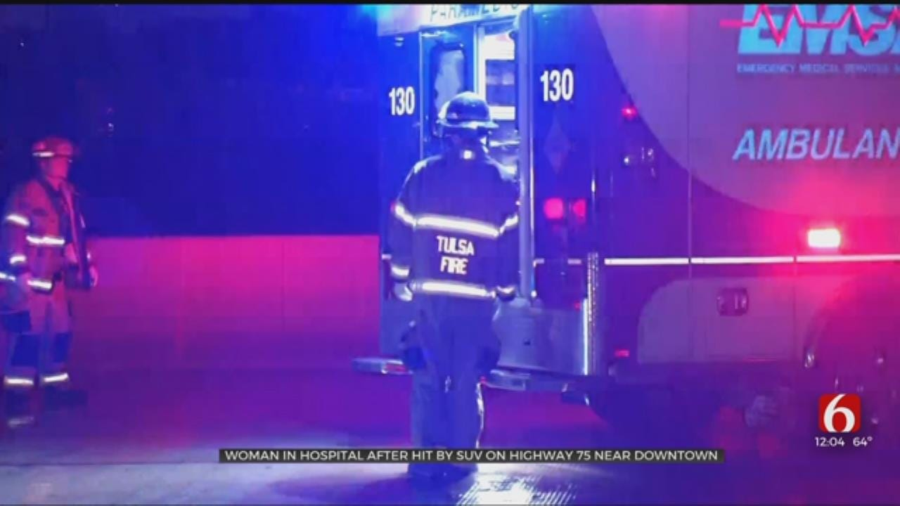 Woman Hit By Car on Highway 75 In Tulsa
