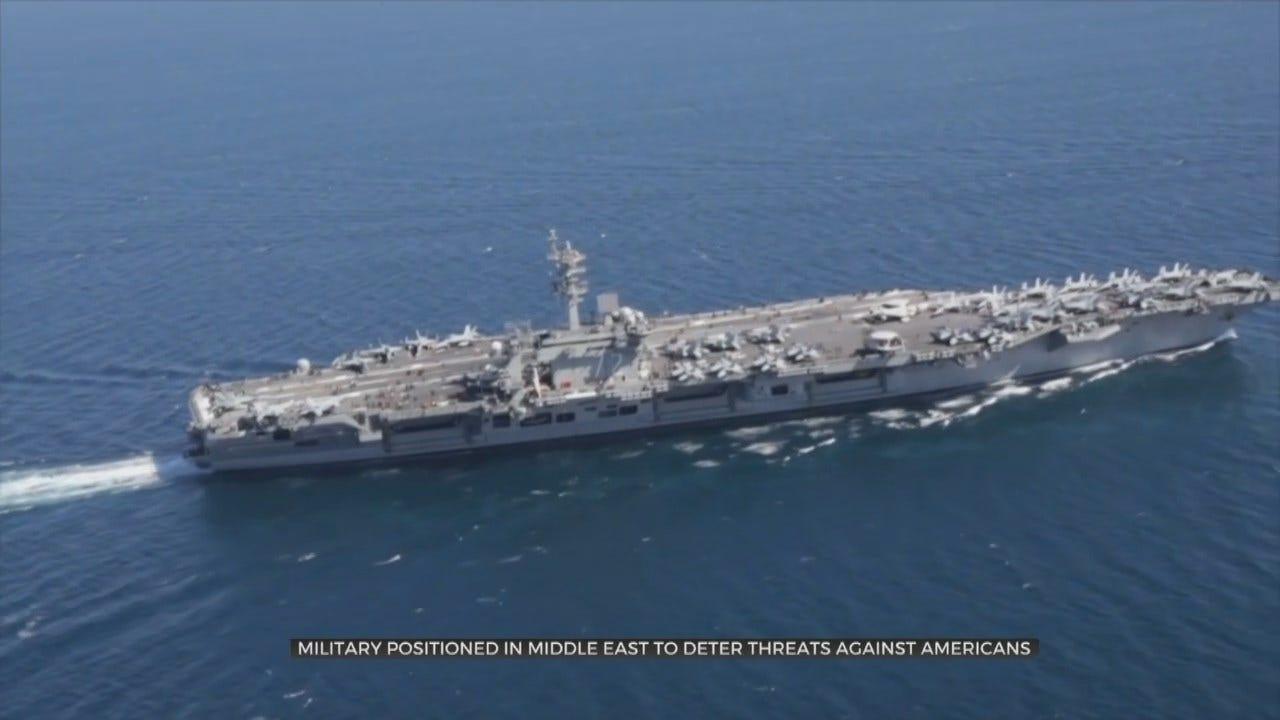 U.S. Sending Aircraft Carrier To Mideast, Citing Iran Threats