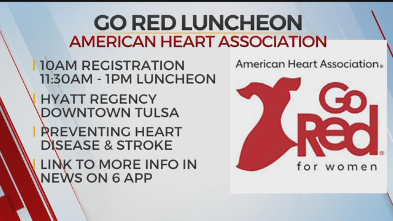 Tulsa 'Go Red For Women' Luncheon Set For Friday, May 10