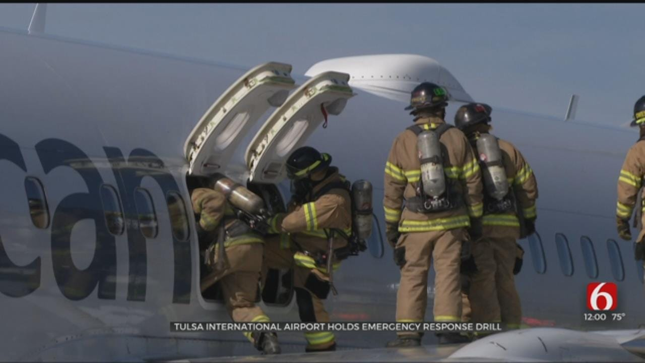 Oklahoma First Responders Practice For Real-Life Airport Disaster