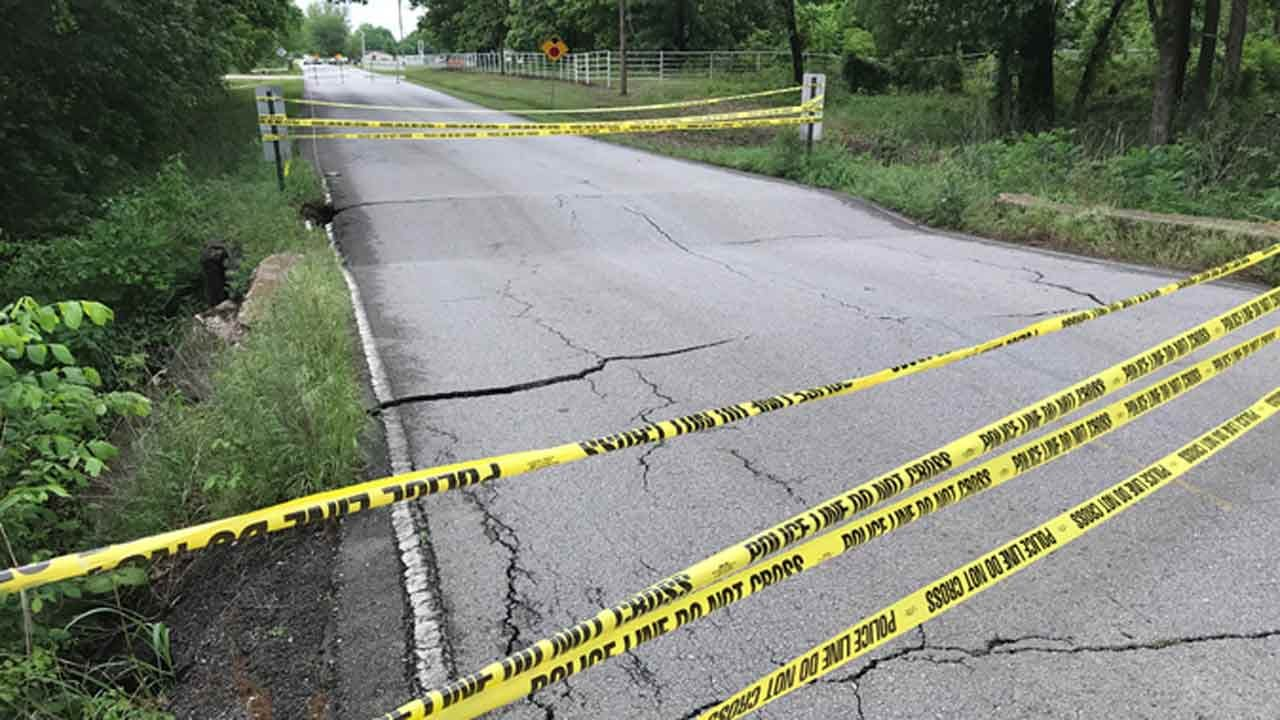 Bridge Collapses On South Tulsa County Road