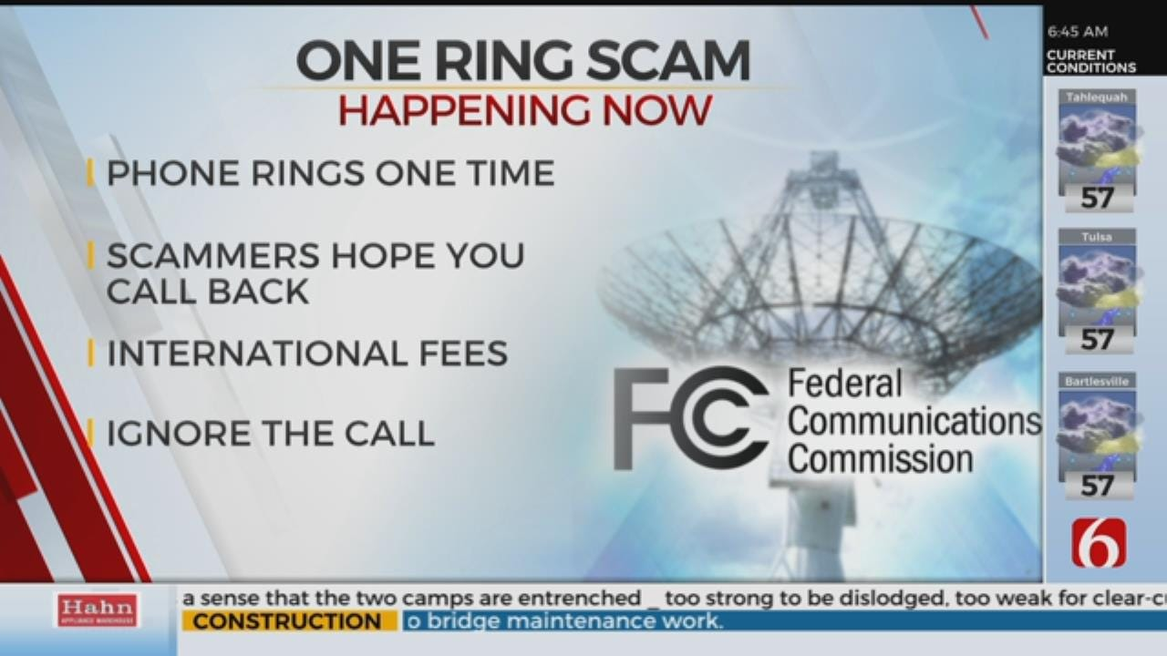 One-Ring Phone Scams Impacts Tulsa Residents