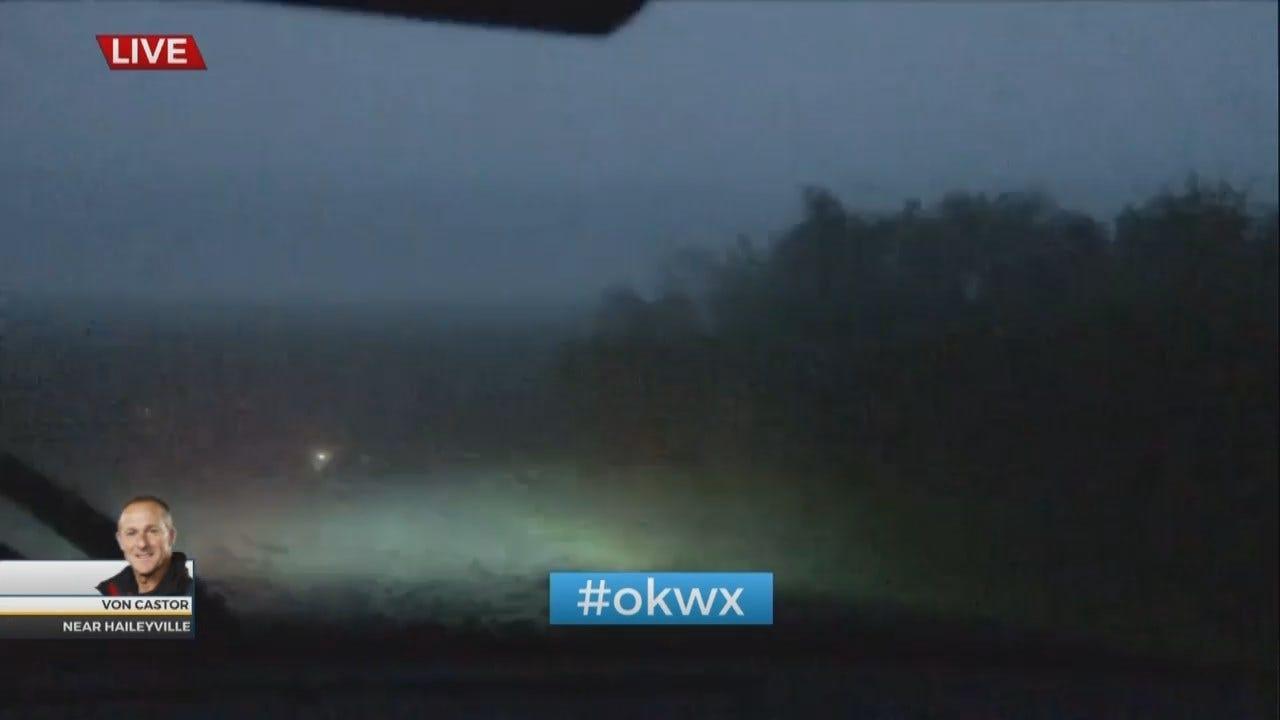 WATCH: Storm Tracker Von Castor Watches Tornado Touch Down In Haileyville