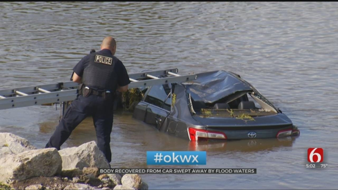 Body Recovered From Car Swept Away By Tulsa Flooding