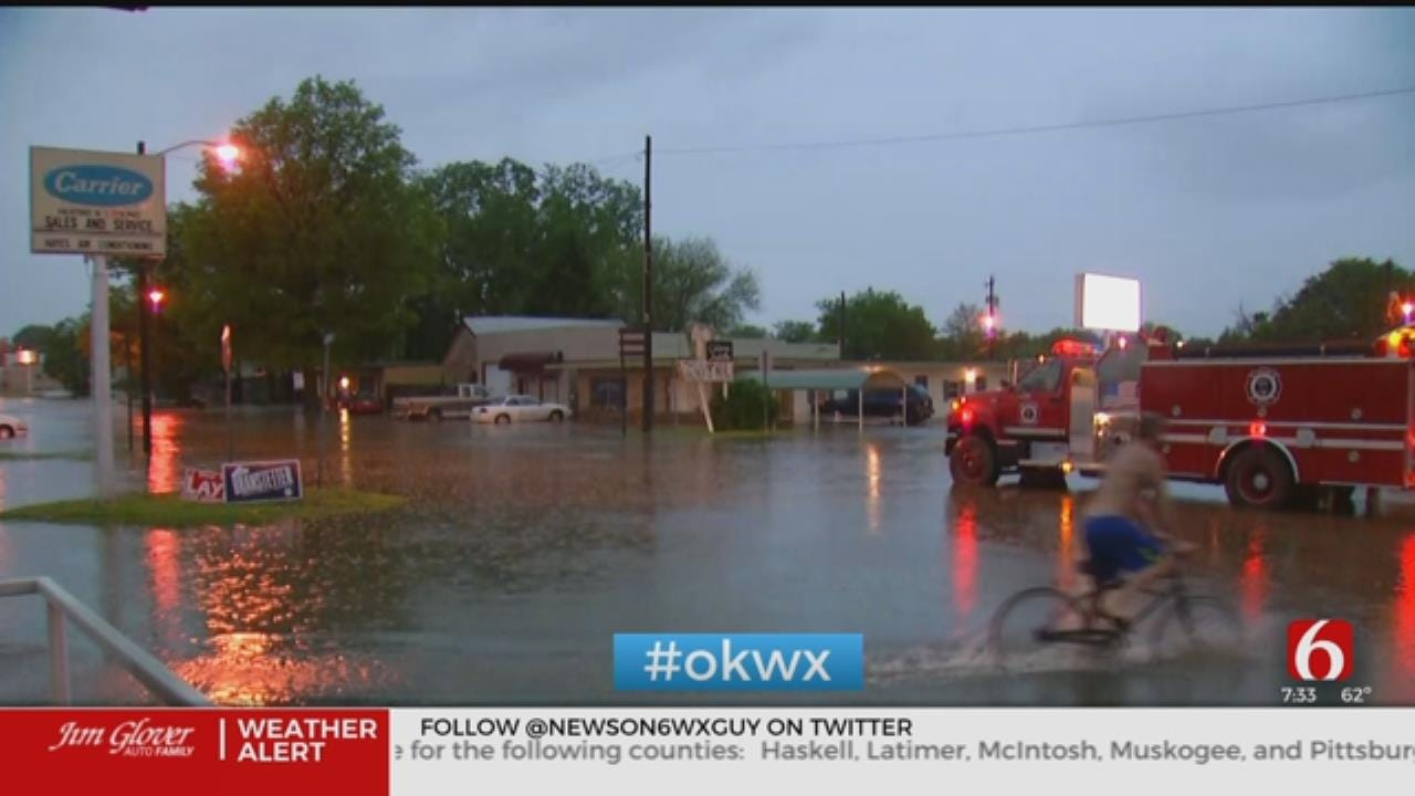 Water Receding After Nowata Suffered Flooding