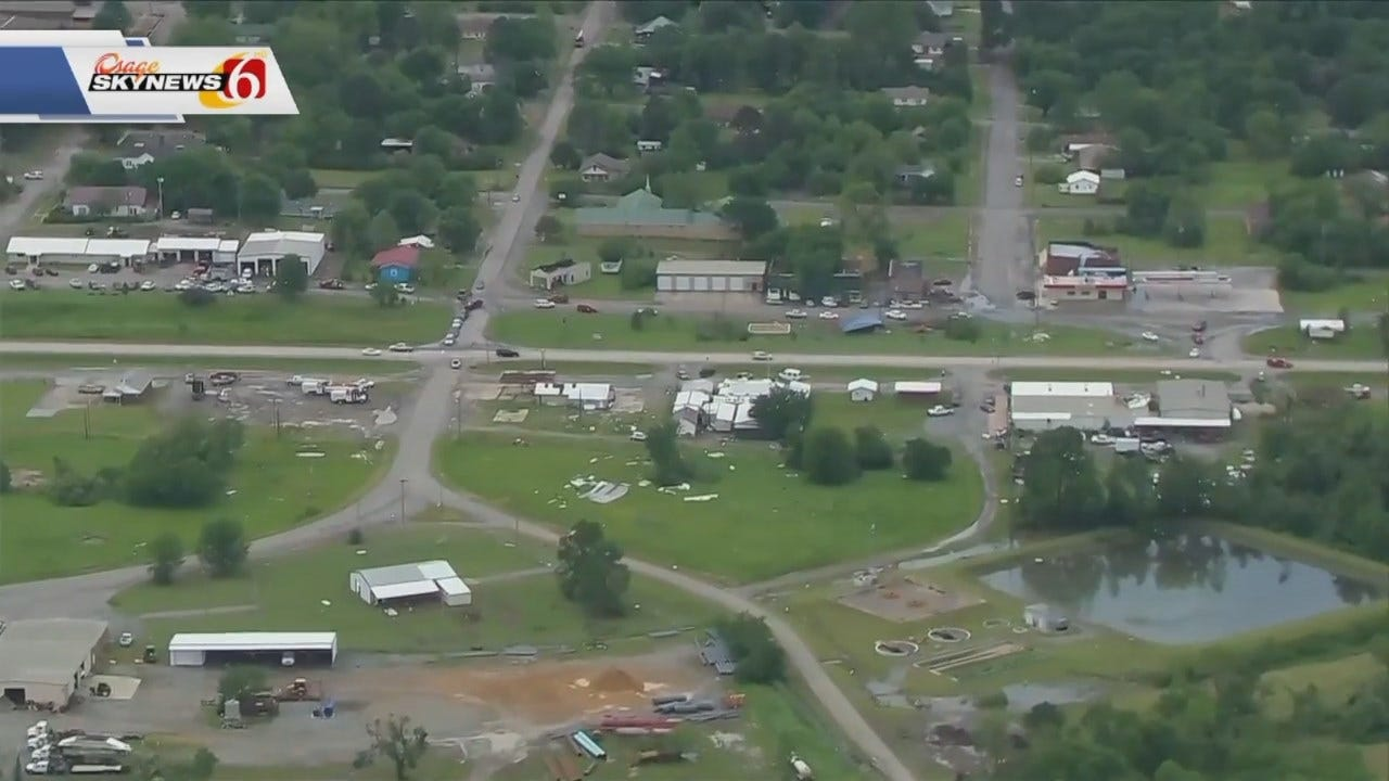 Aerial View Shows Heavy Storm Damage In Haileyville