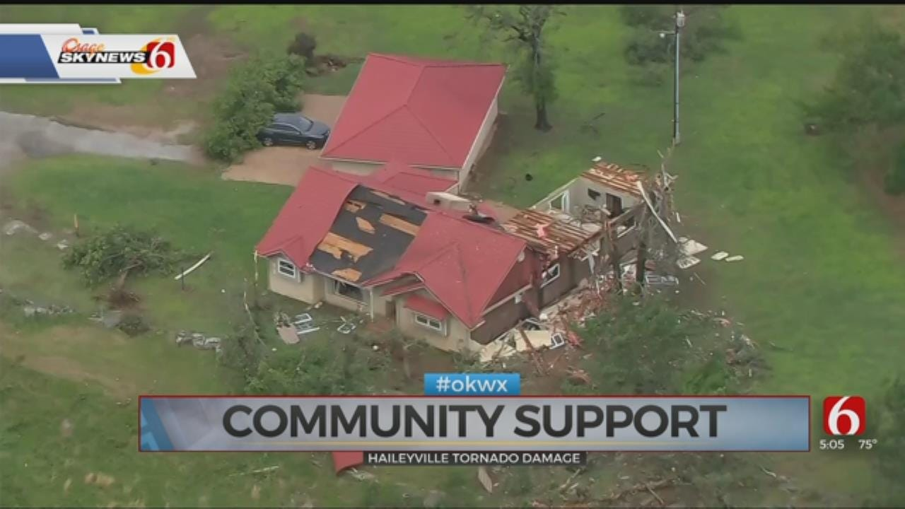 WATCH: Reported Tornado Leaves Behind Damage In Haileyville