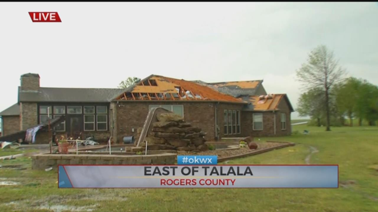 Tornado Damages Homes, Property In Talala