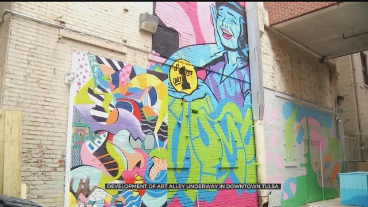 Tulsa Art Alley Impacts Downtown Tulsa