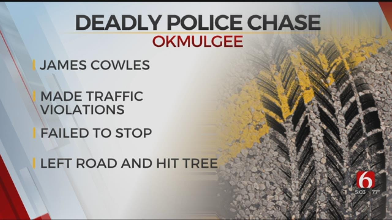 Okmulgee Chase Ends In Fatal Crash, Police Say