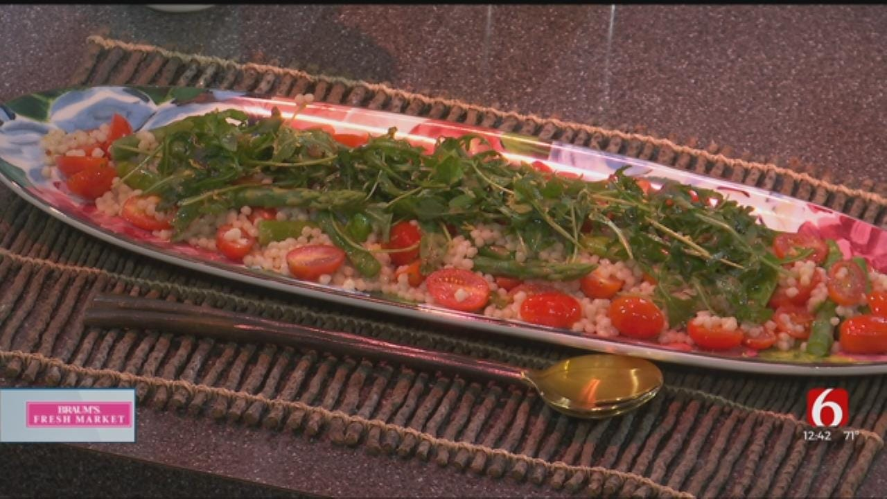 Primavera Couscous And Arugula Citrus Salad