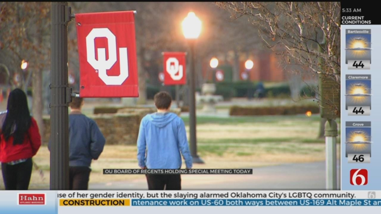 OU Board Of Regents To Hold Special Meeting