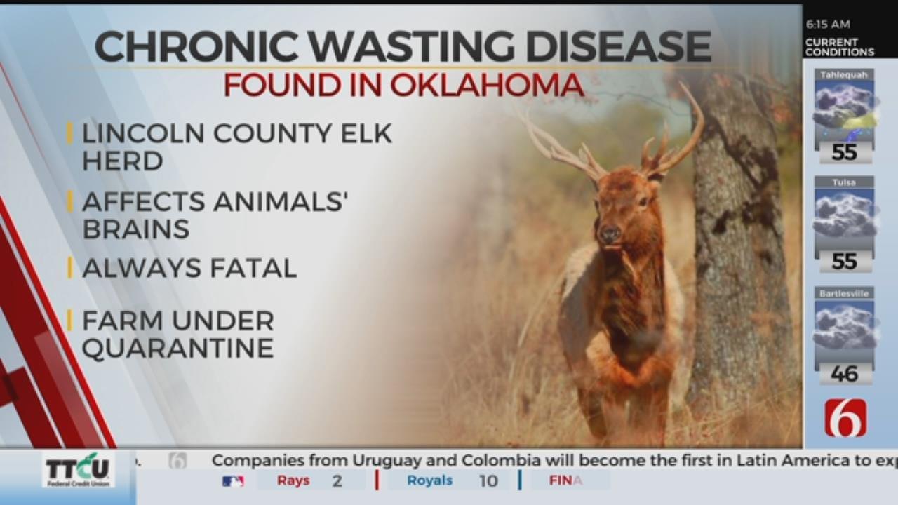 Chronic Wasting Disease Case Confirmed Farmed Oklahoma Elk