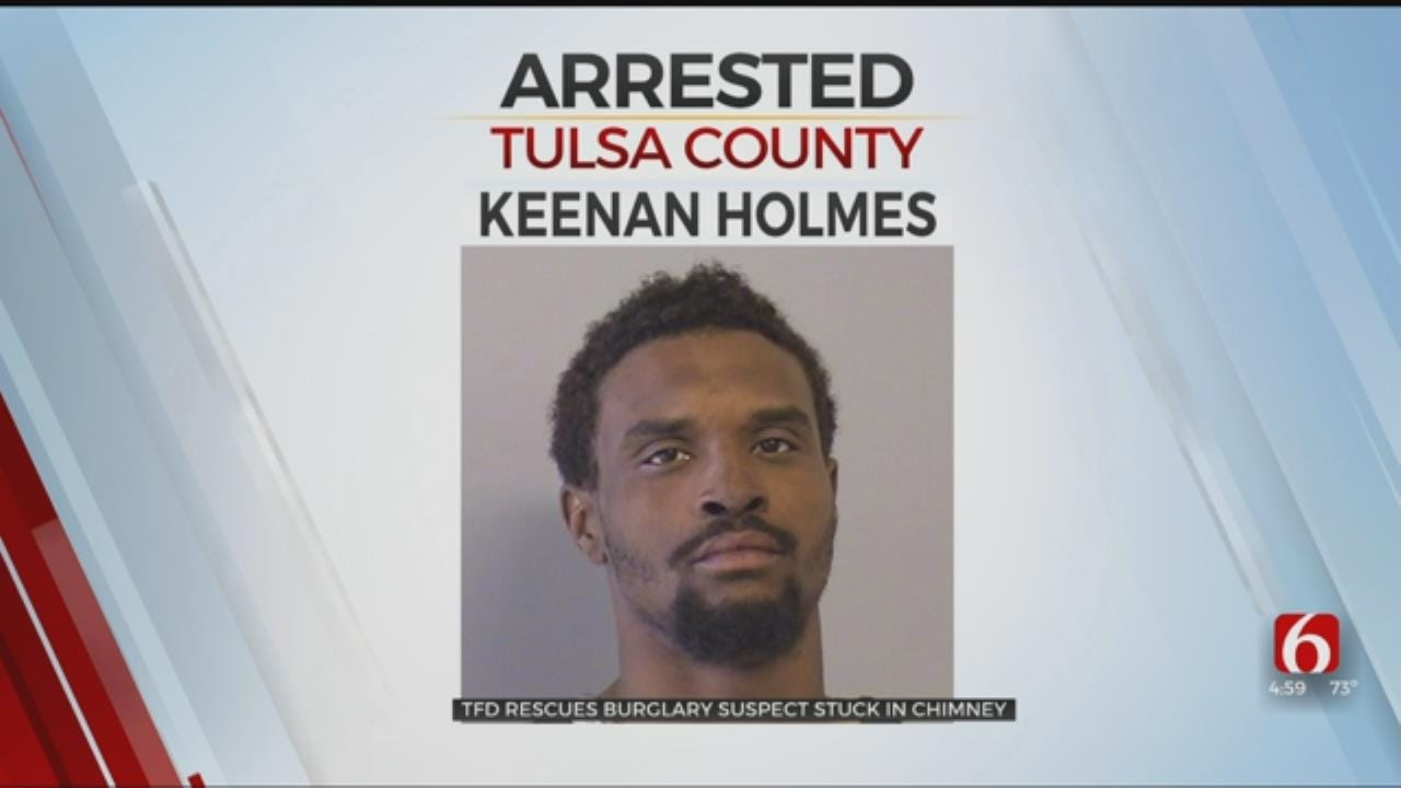 Tulsa Burglary Suspect Stuck In Chimney For Almost 10 Hours