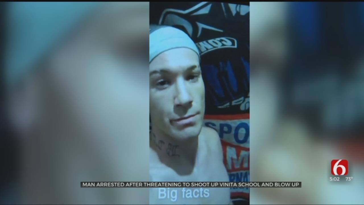 Man Arrested After Threatening Columbine-Style Shooting At Vinita School