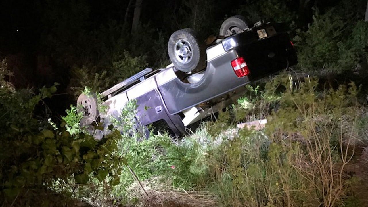 Man In Hospital After Rollover Crash
