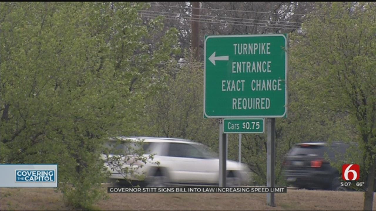 Governor Signs Bill Increasing Speed On Oklahoma Turnpikes