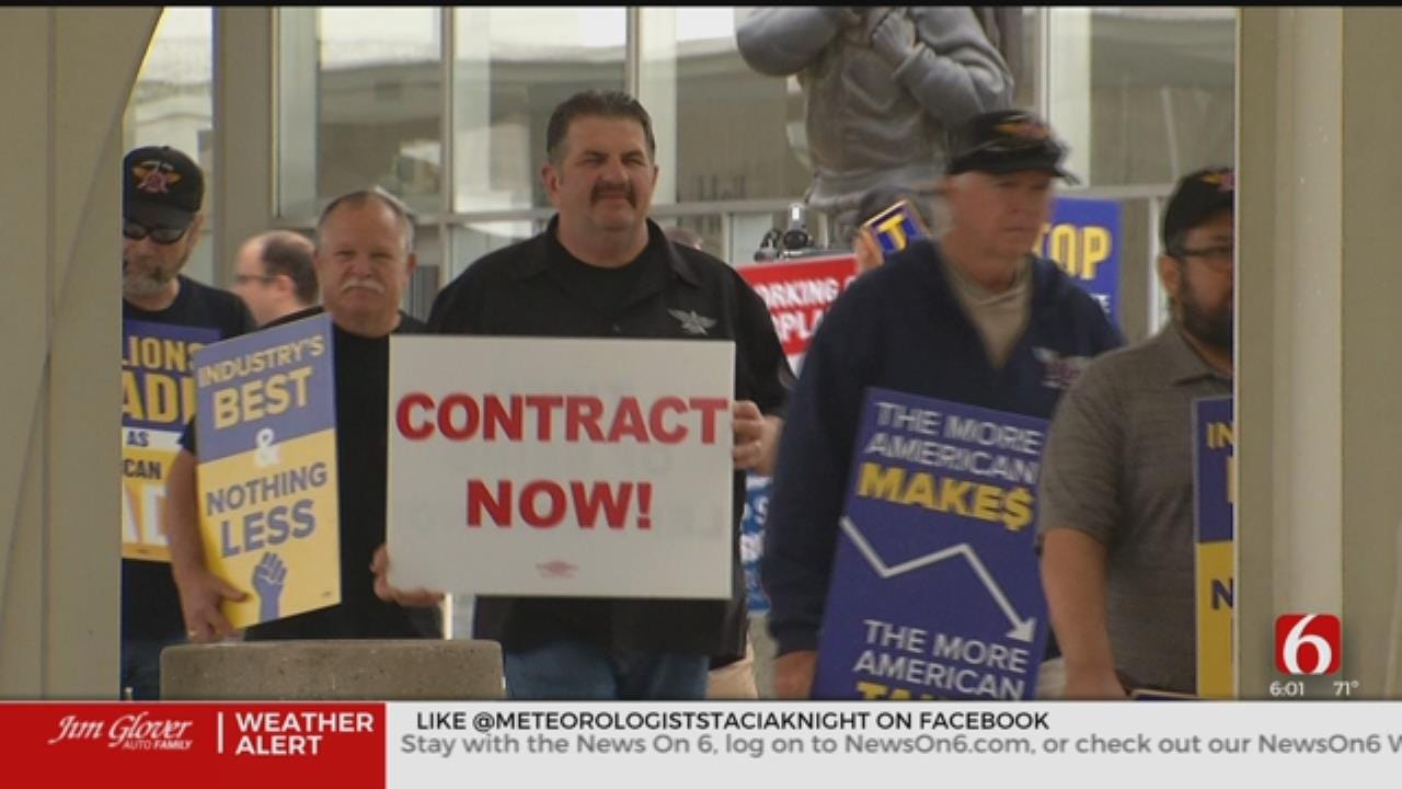 American Airlines Workers Protest Outsourcing